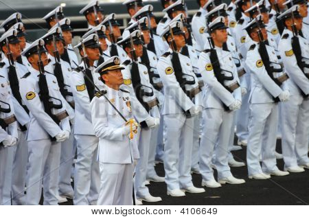 Navy Guard Of Honor Contingent
