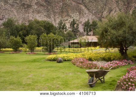 Garden In Yucay Valley Peru