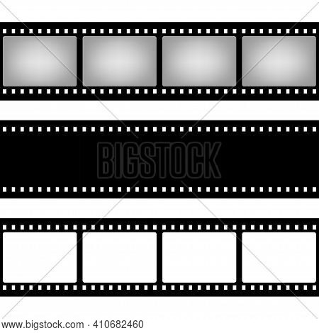 Film Strip Seamless Pattern Shape. Old Retro Cinema Movie Strip. Video Recording. Vector Illustratio