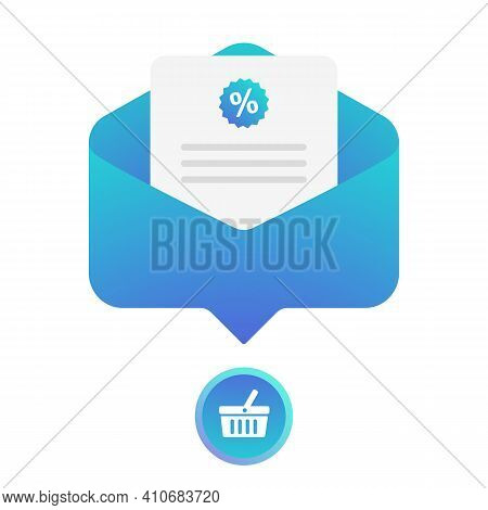 Digital Email Marketing Flat Vector Icon. Lead Generation Concept. Create Personalized Emails With L