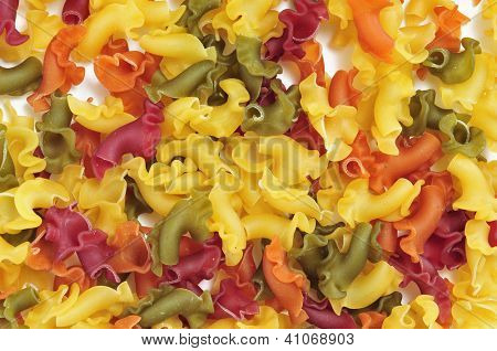 closeup of a pile of uncooked vegetables gigli pasta