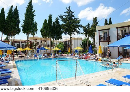 Bodrum, Turkey - May 23: The Tourists Enjoing Their Vacation In Hotel On May 23, 2013 In Bodrum, Tur