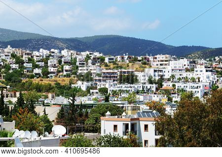 The View On Traditional White Buildings, Bodrum, Turkey