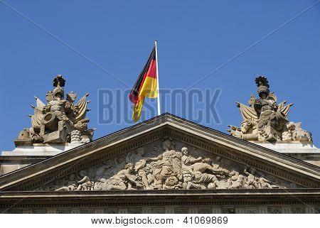 Germany flag on building