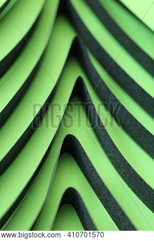 Green Abstract In A Minimalist Style. Ecological Concept. Green Geometric Abstract Background.green