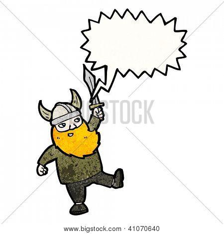 cartoon happy viking