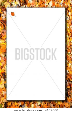 Fall Leaf Bordered Sign Vertical