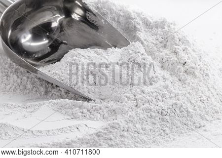 Zinc Oxide, White Powder Used As A Fungal Growth Inhibitor In Paints And As An Antiseptic Ointment I