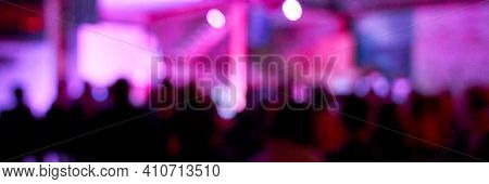 Blur Night Banner. Dj Concert Party. Dance Silliuette. Musician Shadow Theater. Pink And Pruple. Chr