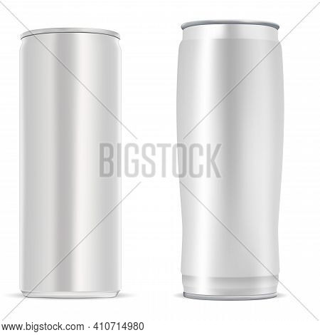 Beer Can. Energy Drink Can, Aluminium Soda Bottle. Cold Beverage Aluminum Silver Metal Tin Blank. Di