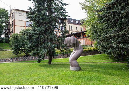 Panevezys, Lithuania - July 23, 2017: Sculpture