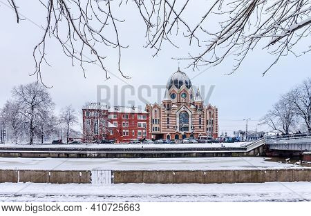 Kaliningrad, Russia, January 29, 2021. The New Liberal Synagogue. House Of Prayer For The Jewish Com