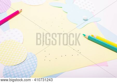 Easter Activities. Dot To Dot Painting Bunny Game. Line Art Easter Rabbit Game For Children. Dot To