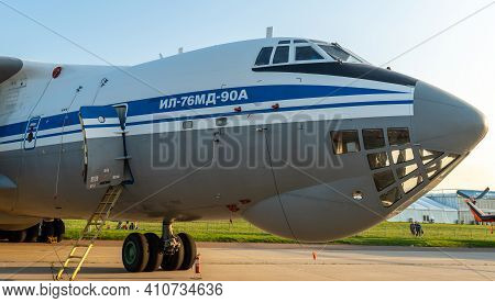 August 30, 2019, Moscow Region, Russia. Russian Heavy Military Transport Aircraft Ilyushin Il-76 At