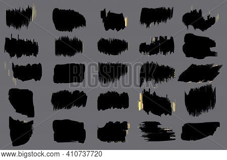 Dirty Grunge Texture. White Background. Watercolor Brush Texture. Stripe Dirty Art. Vector Set. Stoc