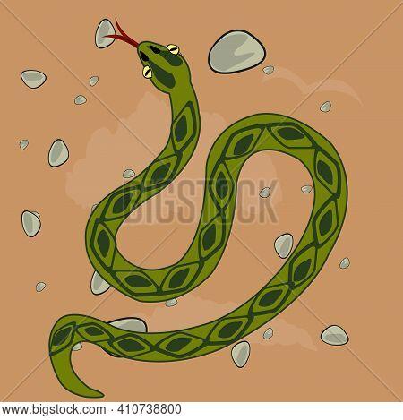 Reptile Reptile Snake In Desert Type Overhand