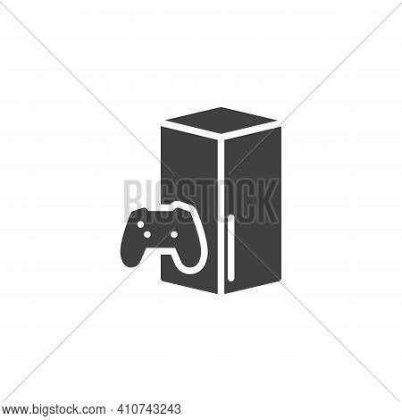 Gamepad And Console Vector Icon. Filled Flat Sign For Mobile Concept And Web Design. Video Game Cons
