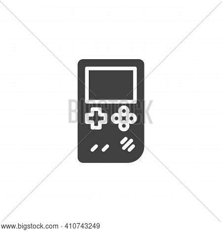 Handheld Game Console Vector Icon. Filled Flat Sign For Mobile Concept And Web Design. Portable Vide