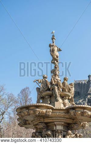 The Ross Fountain In Edinburgh, United Kingdom