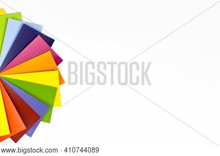 Rainbow Color Palette On White. Rgb. Cmyk. Designer Color Chart Spectrum.
