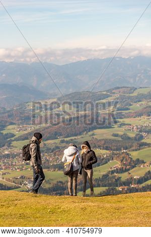 Schockl, Austria 23.10.2016 Mountain In Graz. Tourist Spot In Graz Styria. Places To See In Austria