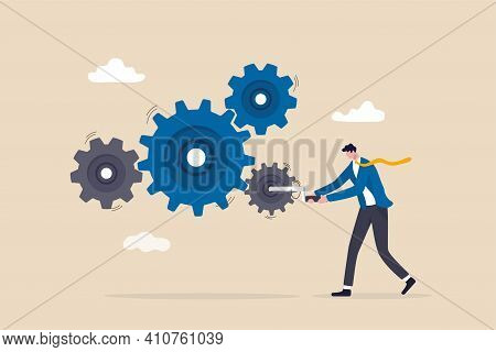 Business Work Flow, Leadership To Drive Team And Initiate Productivity And Efficiency Working Proces