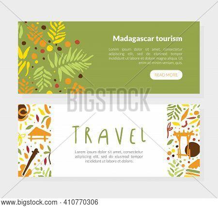 Travel To Madagascar Landing Page, Summer Paradise, Tropical Vacation, Resort Website Vector Illustr