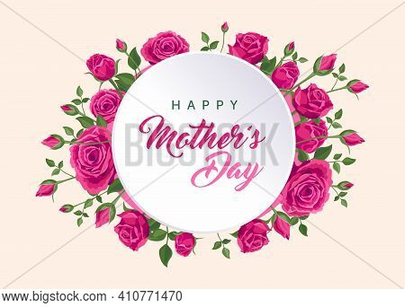 Happy Mother's Day Banner. Vector Greeting Card For Social Media, Online Stores, Poster, Flyer. Hand