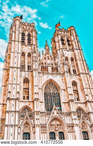 Cathedral Of St. Michael And St. Gudula  Is A Roman Catholic Church In Brussels, Belgium.