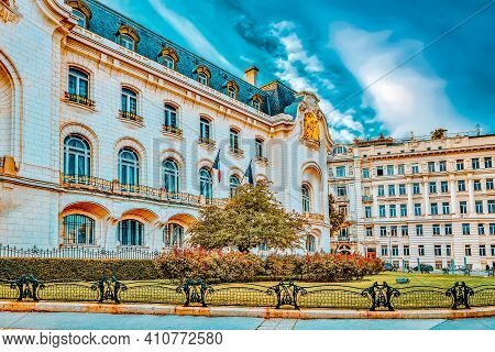 Cityscape  Views Of One Of Europe's Most Beautiful Town- Vienna. Building On Streets, Urban Life Vie