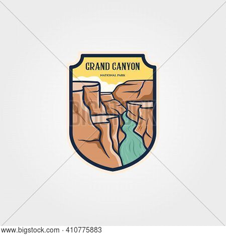 Grand Canyon National Park Emblem Logo Vector Sticker Patch Travel Symbol Illustration Design