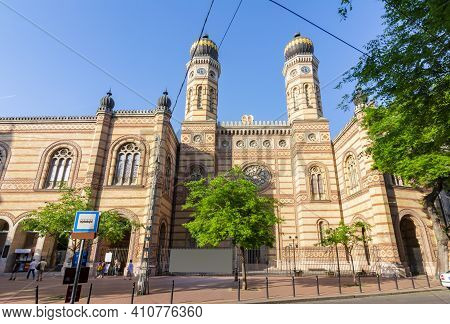 Dohany Synagogue (largest In Europe) In Center Of Budapest, Hungary