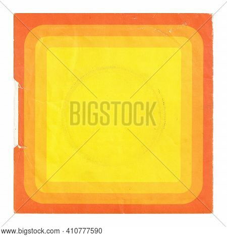 Worn Yellow Orange Disc Cover From The Seventies