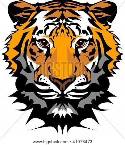 Tiger Head Vector Graphic