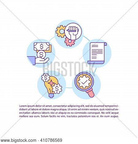 Grant Writing Tips Concept Icon With Text. Target Specific Project For Your Proposal. Ppt Page Vecto