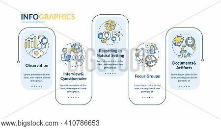 Observation Vector Infographic Template. Documents And Artifacts Presentation Design Elements. Data