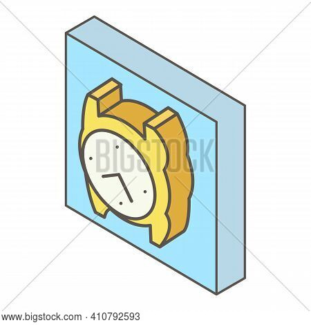 Wristwatch Icon. Isometric Illustration Of Wristwatch Vector Icon For Web