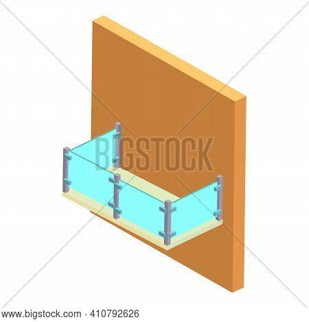 Balcony Icon. Isometric Illustration Of Balcony Vector Icon For Web