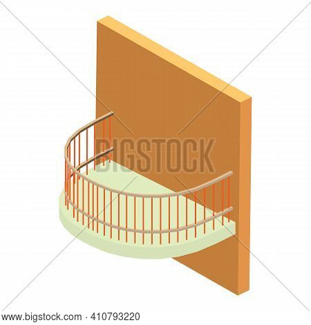 Lattice Balcony Icon. Isometric Illustration Of Lattice Balcony Vector Icon For Web