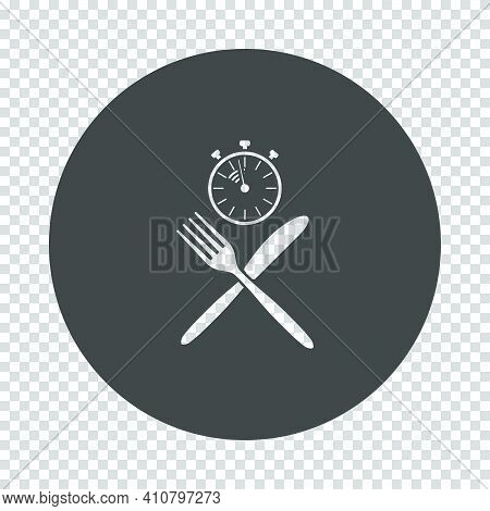 Fast Lunch Icon. Subtract Stencil Design On Tranparency Grid. Vector Illustration.