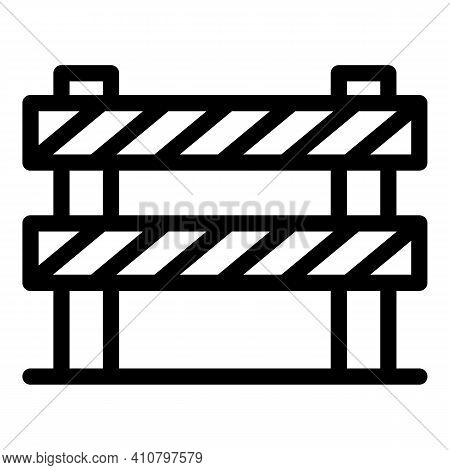 Roadblock Icon. Outline Roadblock Vector Icon For Web Design Isolated On White Background