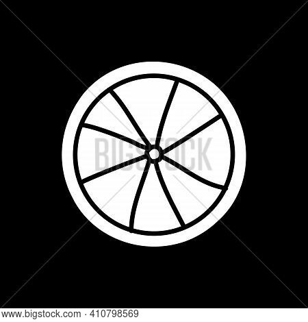 Pie Dark Mode Glyph Icon. Sweet Pastry. Dessert For Eating. Bakery Product. Recipe Cookery. Grocery