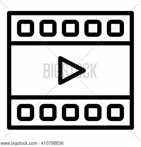 Video Editor Icon. Outline Video Editor Vector Icon For Web Design Isolated On White Background