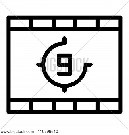 Clip Countdown Icon. Outline Clip Countdown Vector Icon For Web Design Isolated On White Background