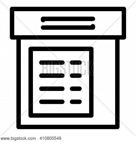 Electronic Cabinet Icon. Outline Electronic Cabinet Vector Icon For Web Design Isolated On White Bac