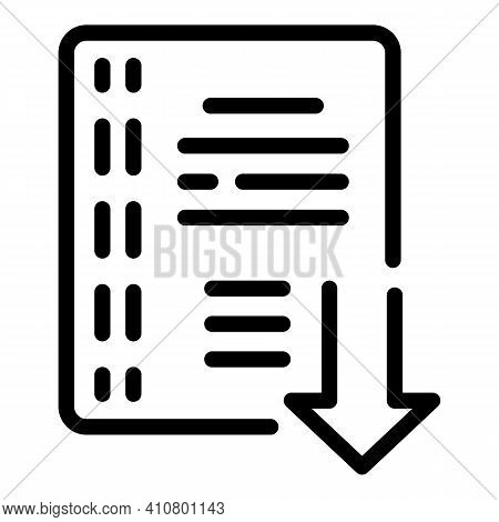 Internet Catalog Icon. Outline Internet Catalog Vector Icon For Web Design Isolated On White Backgro