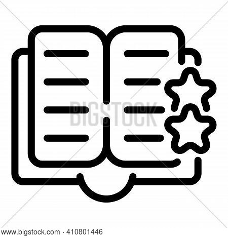 Digital Bookmark Icon. Outline Digital Bookmark Vector Icon For Web Design Isolated On White Backgro