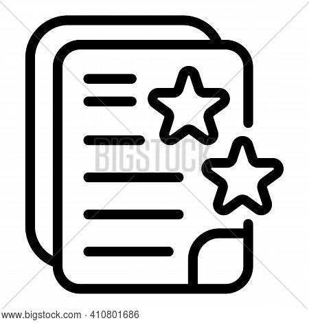 Favourite Files Icon. Outline Favourite Files Vector Icon For Web Design Isolated On White Backgroun