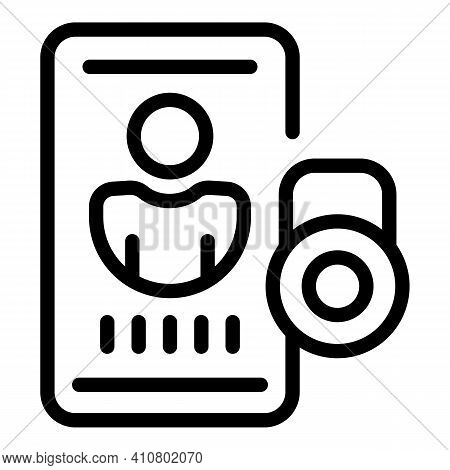 Phone Privacy Icon. Outline Phone Privacy Vector Icon For Web Design Isolated On White Background