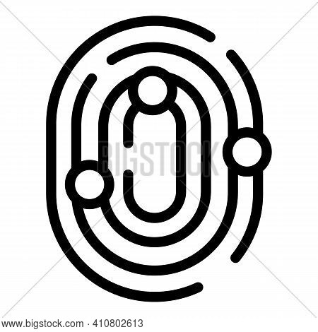 Finger Privacy Icon. Outline Finger Privacy Vector Icon For Web Design Isolated On White Background